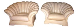 Image of Eggshell Club Chairs