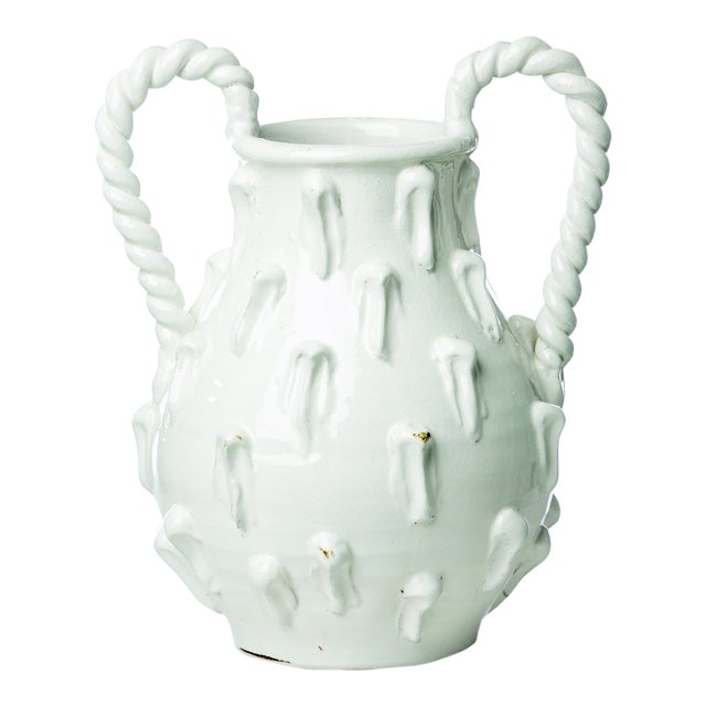 Vinci Two Handle White Ceramic Jug For Sale