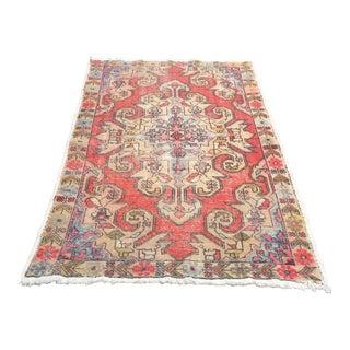 "Vintage Anatolian Floor Wool Rug - 4'8"" x 7'4"""