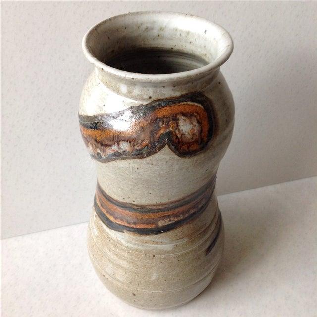 Studio Pottery Neutral Tone Glazed Vase - Image 3 of 11