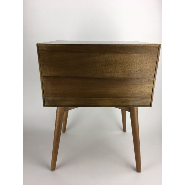 West Elm Mid-Century Style Two-Tone Nightstand Side Table For Sale - Image 9 of 9