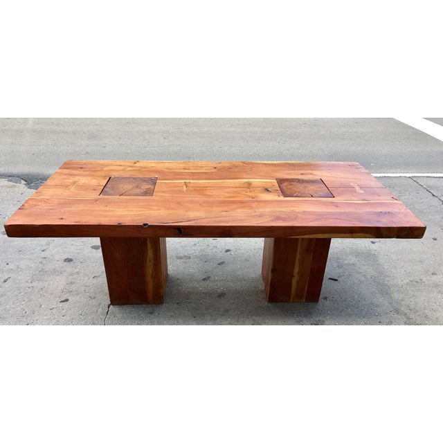 Mid-Century Modern Walnut Free Edge Dining Table For Sale - Image 3 of 7