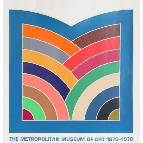 "Modern 1970 Frank Stella ""The Metropolitan Museum of Art 1870 - 1970"" Poster For Sale - Image 3 of 3"