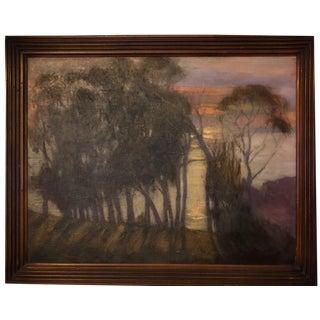 Sunset, Central Coast, Eucalyptus, Cambria, California Oil Painting For Sale