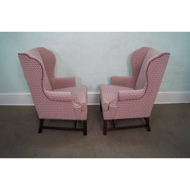 Baker Chippendale Style Wing Chairs - A Pair - Image 2 of 10