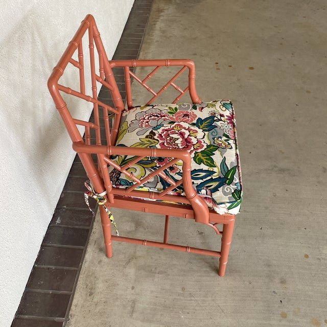 1960s Vintage Chinoisere Chair For Sale - Image 5 of 8