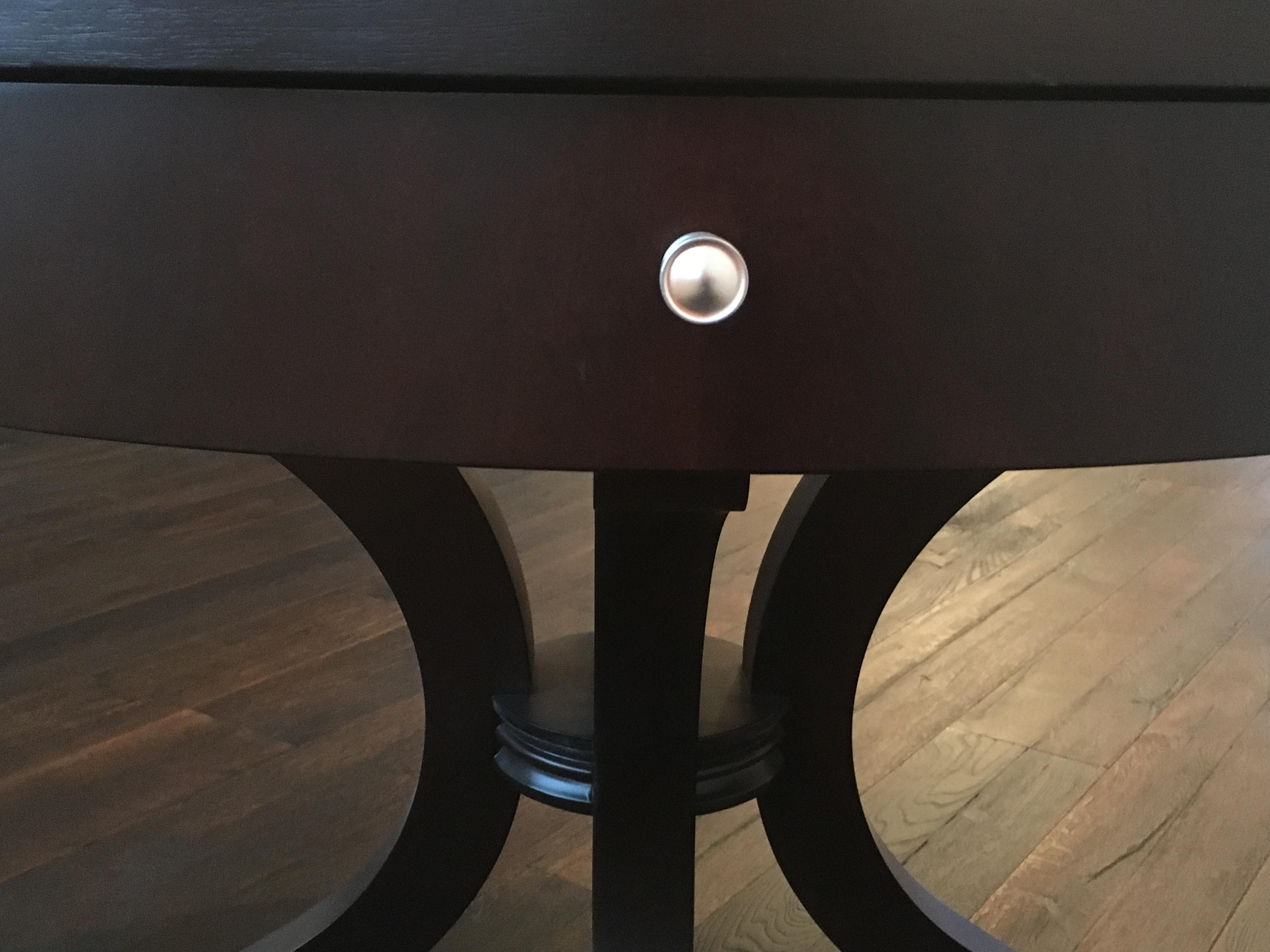 Attirant Ethan Allen Wilshire Table   Image 5 Of 8
