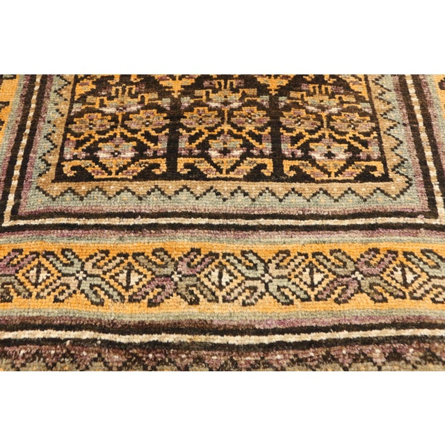 Textile Vintage Shiraz Persian Tribal Rug With Mid-Century Modern Style - 3'6 X 5'4 For Sale - Image 7 of 8