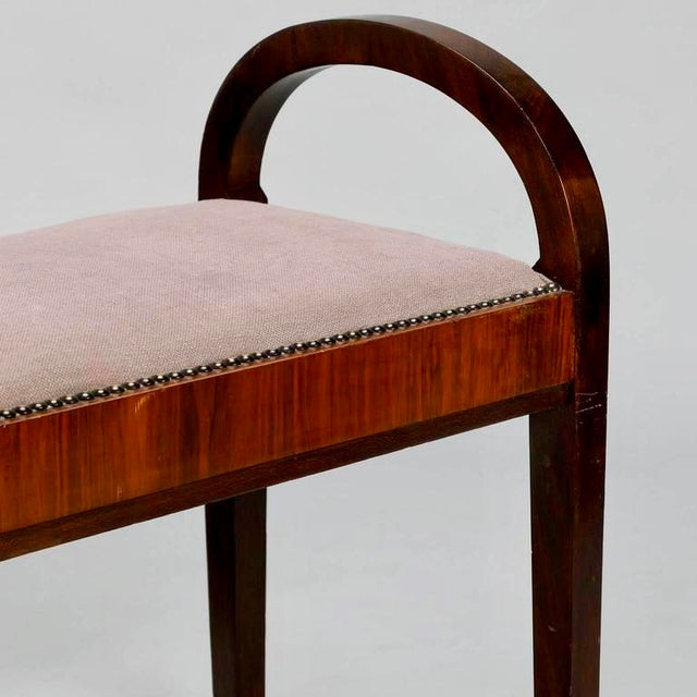 French Art Deco Upholstered Benches - A Pair - Image 4 of 10