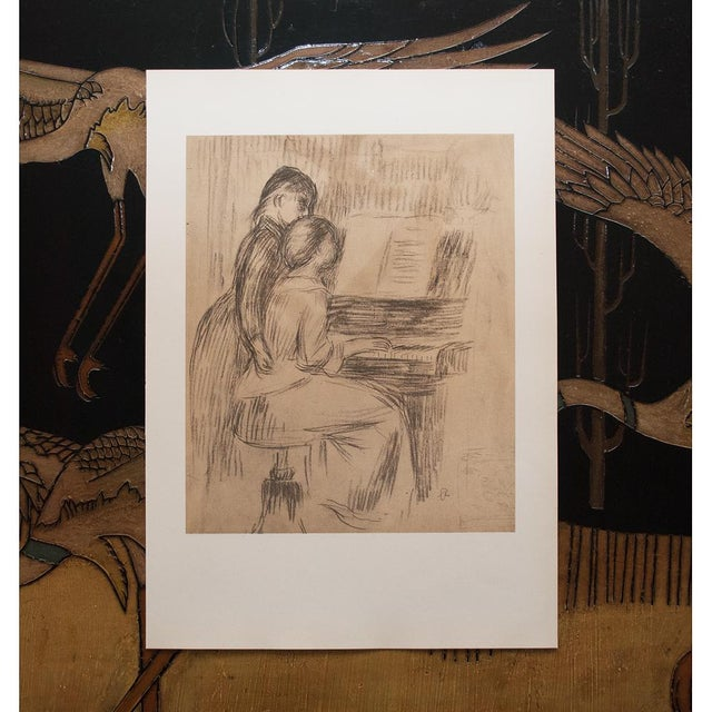 "Chalk 1959 Large ""The Music Lesson"" by Renoir, Lithograph For Sale - Image 7 of 10"