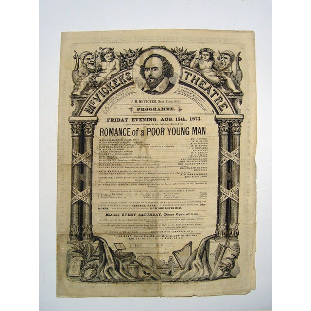 1873 McVicker's Theatre Playbill - Image 2 of 4