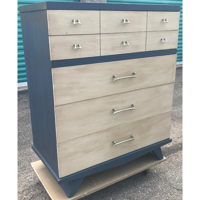 Vintage Mid Century Modern HighBoy Dresser For Sale - Image 10 of 10