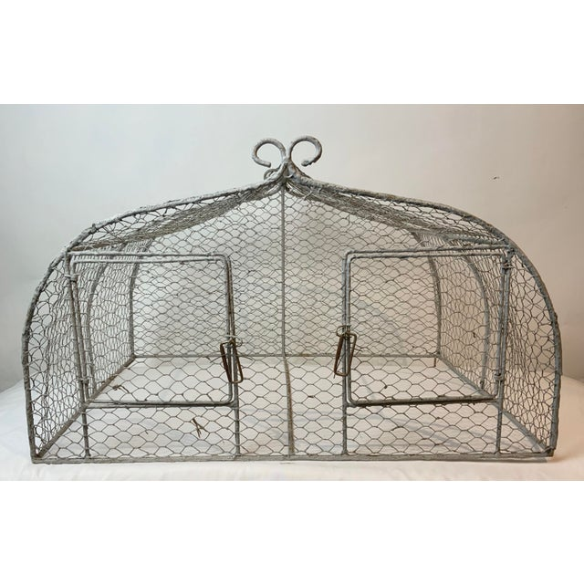 Shabby Chic Vintage 1950s French Style Metal Birdcage For Sale - Image 3 of 13