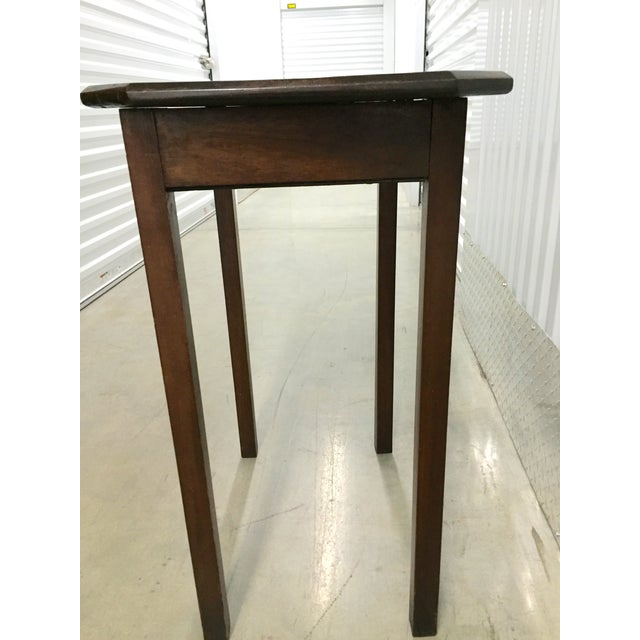 Early American Antique Lift-Top Side Table For Sale - Image 3 of 8