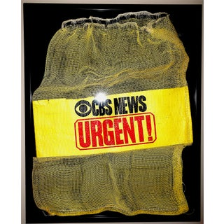 Mid-20th Century Cbs News Film Courier Transport Pouch in Shadow Box Frame For Sale