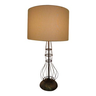 Industrial Brass fitted Table Lamp For Sale