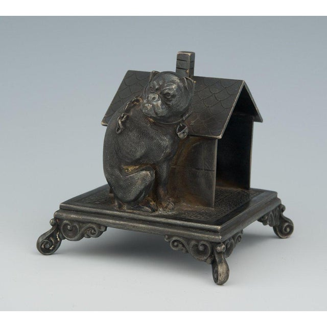 Victorian Figural Quadruple Silver-Plated Bulldog Napkin Holder For Sale In Seattle - Image 6 of 6