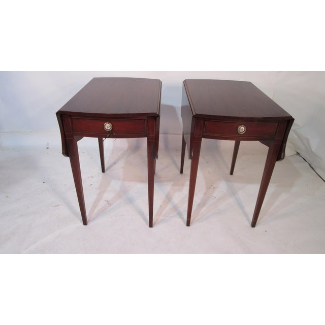 Mahogany Pembroke Tables - A Pair For Sale - Image 11 of 11