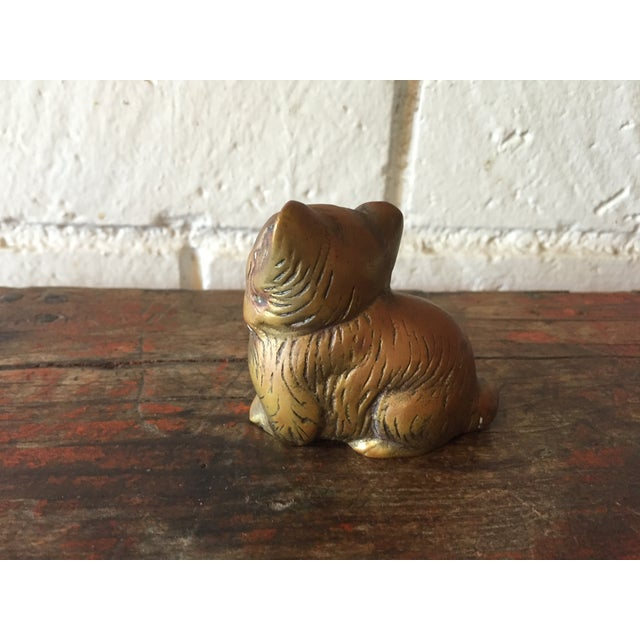 Small Brass Kitty - Image 4 of 6