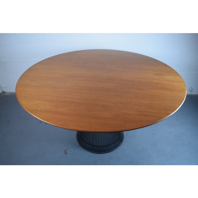Warren Platner for Knoll Bronze and Teak Table - Image 6 of 8