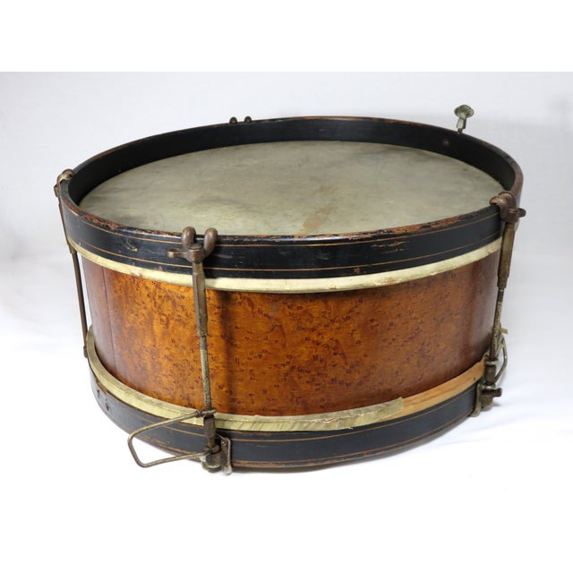 Metal Early 20th Century Antique Parade Marching Snare Drum For Sale - Image 7 of 13