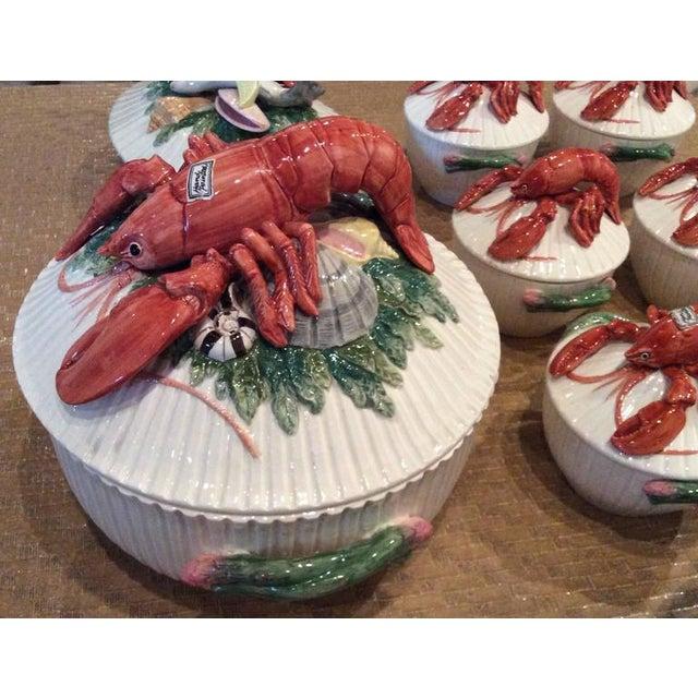 Red Fitz & Floyd Lobster Soup Bowls- Set of 11 For Sale - Image 8 of 11