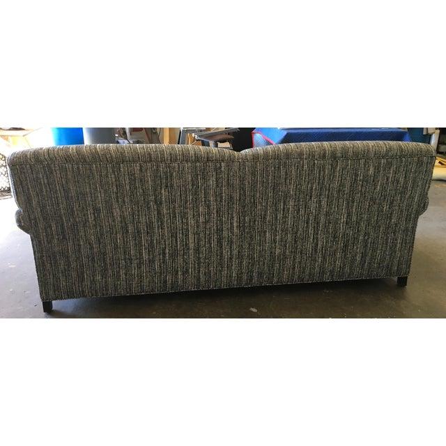 Italian Custom Italian Wool Tweed Sofa For Sale - Image 3 of 4