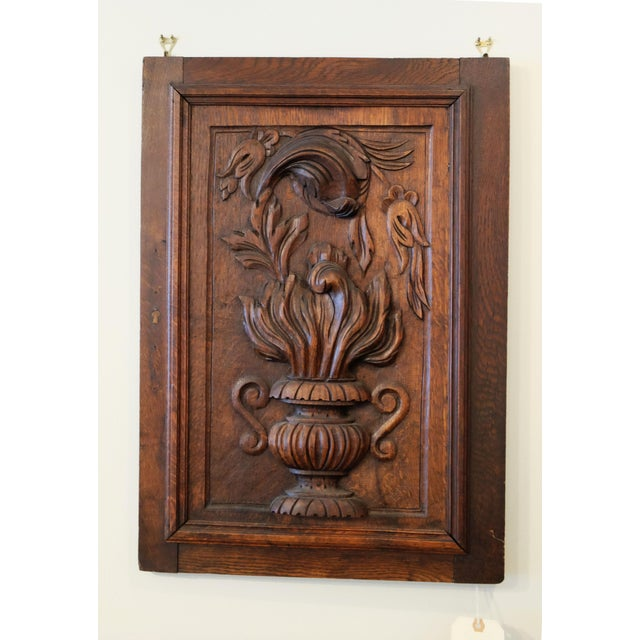 Late 19th Century Flame Design. Hand-carved. Slight scuff on corners.
