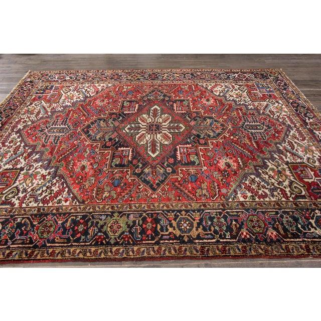 """Apadana - Vintage Persian Heriz Rug, 7'9"""" x 10'9"""" - Image 5 of 7"""