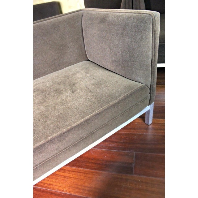 Jordan Modern Brown Chaise Lounge Daybed For Sale In New York - Image 6 of 10