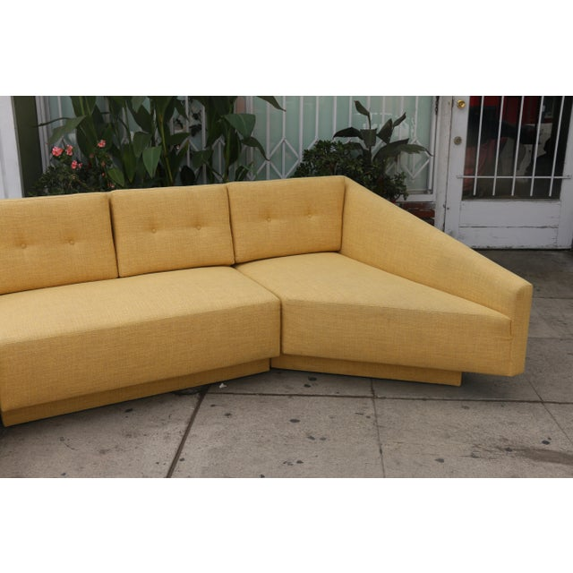 Yellow Yellow Sectional Sofa For Sale - Image 8 of 11