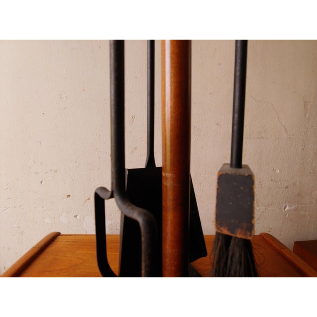 1960s Vintage Seymour Manufacturing Company Mid Century Modern Fireplace  Tool Set