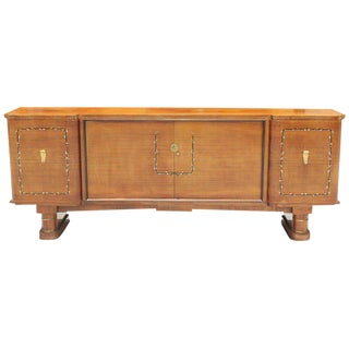 1940s French Art Deco Jules Leleu Style Rosewood M-O-P Sideboard / Buffet For Sale