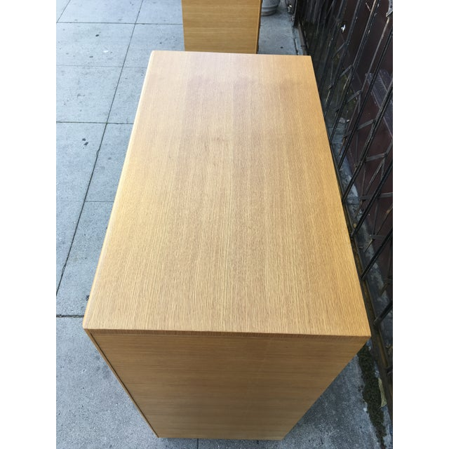 1940s Art Deco Oak Highboy Chest of Drawers For Sale - Image 10 of 13