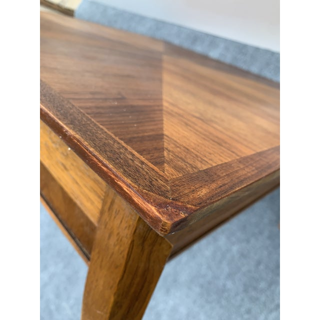 Mid 20th Century Mid 20th Century Mid-Century Modern Drexel Square Walnut Table For Sale - Image 5 of 9