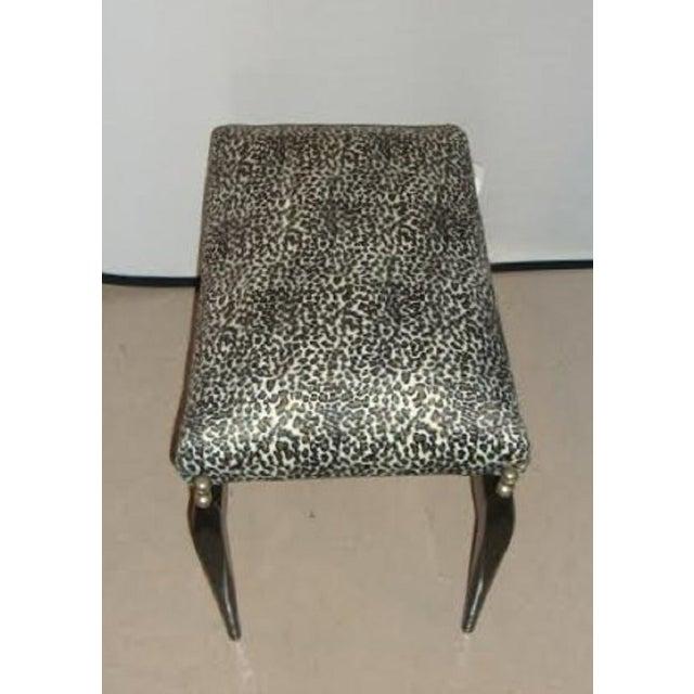 Leopard Print Upholstered Bench - Image 6 of 6