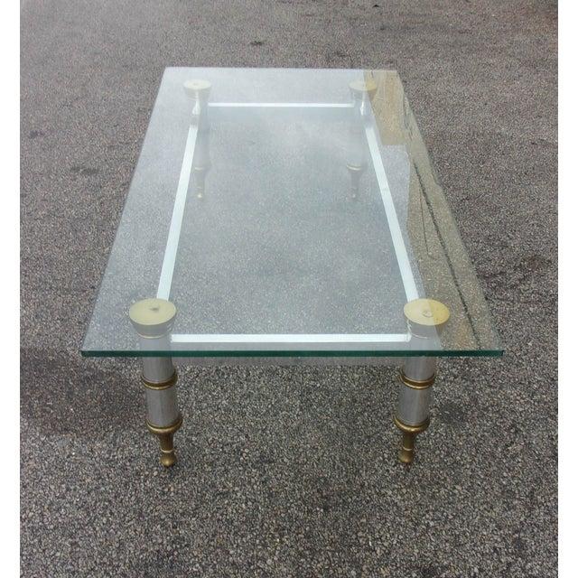 Mid-Century Aluminum & Brass Coffee Table - Image 10 of 11