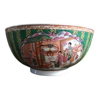 Vintage, Chinese Canton Famille Rose Bowl, Reduced For Sale