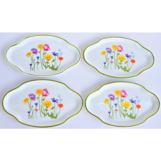 Floral Vintage and French Limoges Small Plates - Set of 4 For Sale - Image 4 of 7
