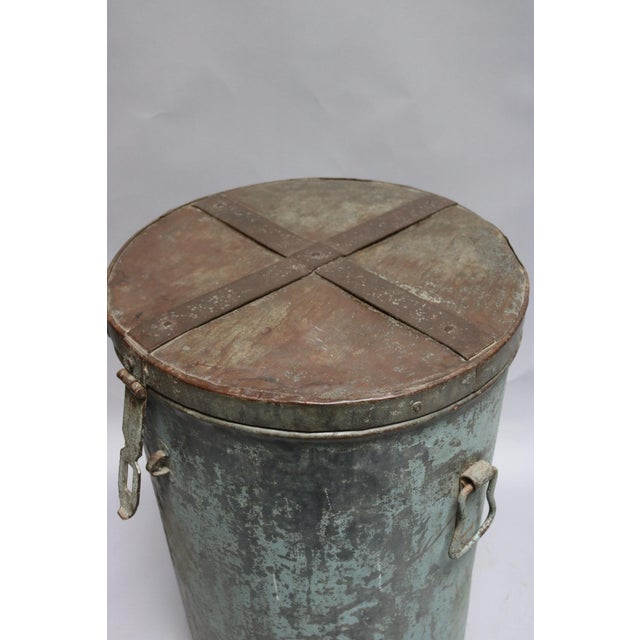 1920s Rustic Metal Container For Sale In Los Angeles - Image 6 of 7