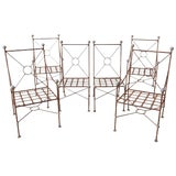 Image of Set of Six Mario Papperzini for Salterini Style Garden Chairs For Sale