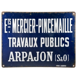 French Enamel Sign - Mercer Pincemaille