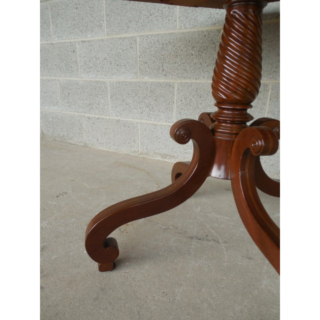 Hadleigh Furniture Mahogany Regency Style Center Entrance Accent Table For Sale - Image 9 of 10