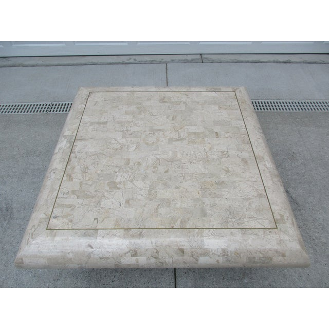Tessellated Stone Coffee Table for Mission Furniture Los Angeles For Sale - Image 9 of 11