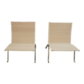 1960s Vintage Poul Kjaerholm for E.Kold Christiansen Pk22 Chairs - a Pair For Sale