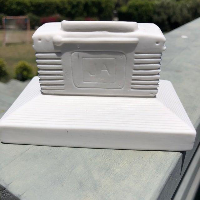 Ceramic Jonathan Adler Ceramic Boombox Match Holder For Sale - Image 7 of 8