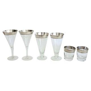 Dorothy Thorpe Glassware - Set of 6 For Sale