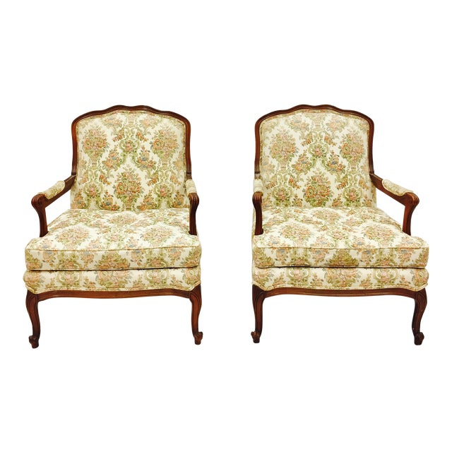Vintage French Style Arm Chairs - A Pair - Image 1 of 11