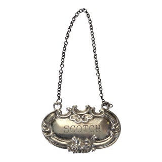 Sterling Silver Scotch Decanter Label
