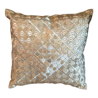 Monochrome Silk Embroidered Moroccan Pillow Cover